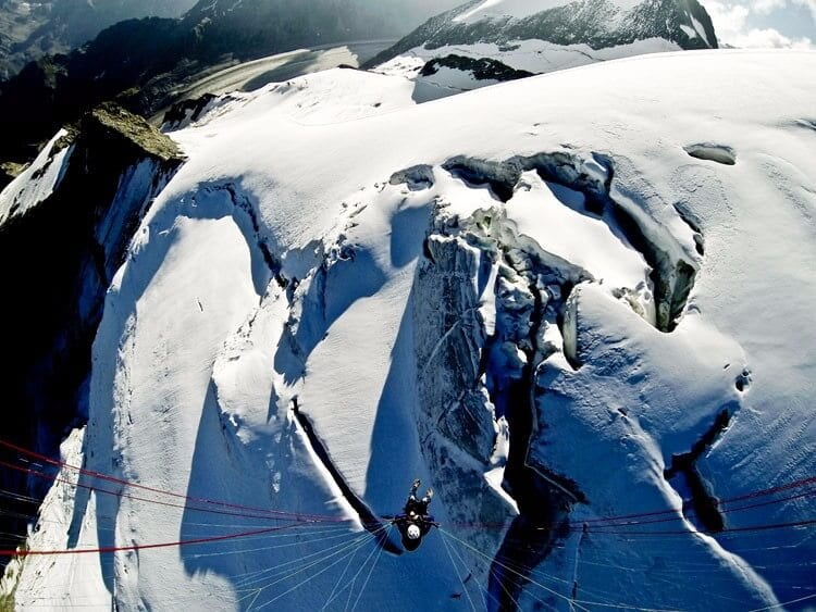 Heli-paraglide alps